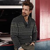 Модный шерстяной свитер Man р. XL от тсм Tchibo Германия