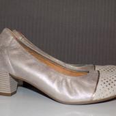 Кожаные фирменные женские стильные туфли Gabor 39 р - Новые