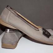 Кожаные фирменные женские туфли Gabor 41-41.р - Новые