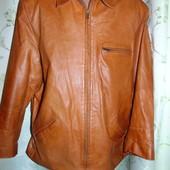 Брендовая кожаная стильная курточка Leather (Лизер) л .