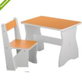 Столик со стульчиком деревянный Vivast 504-4 желтый