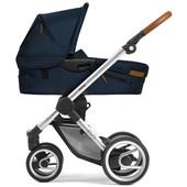 Классическая коляска Mutsy evo nomad Atlantic Blue (шасси Silver)
