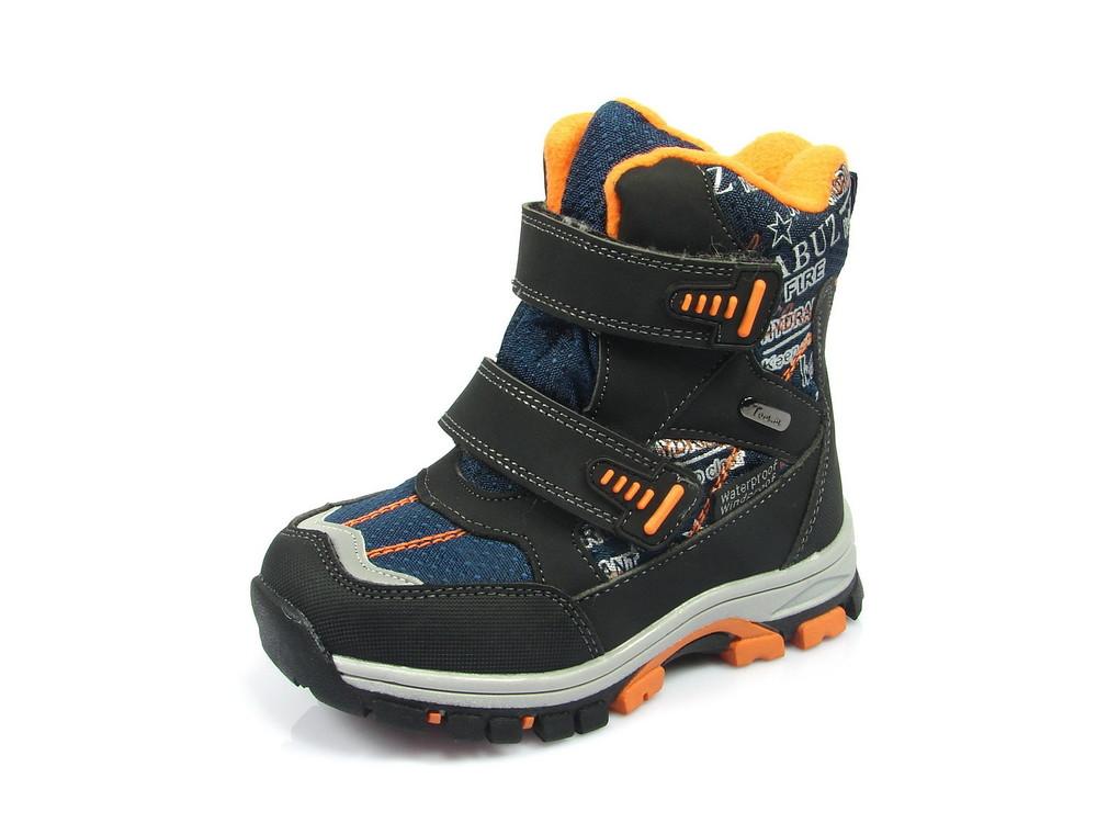 52d18d7bc 100-c-t16-89-b , зимние термо ботинки для мальчика, том.м, размеры 27-32