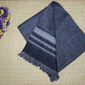 Теплый классический шерстяной мужской шарф
