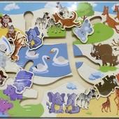 """Бродилка """"Животные Африки"""", Wooden Toys (555-226)"""