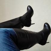 Стильные кожаные сапожки braska размер 41