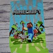 Фирменное огромное полотенце девочке Майнкрафт Minecraft