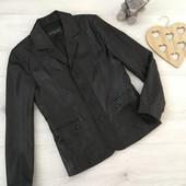 Кожаный пиджак, приталенный, классика, М