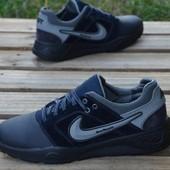 Новинка!!! мужские  кожаные  кроссовки код: Nike Н8c
