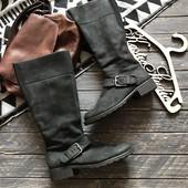 Стильные кожаные деми сапоги Clarks р-р 41