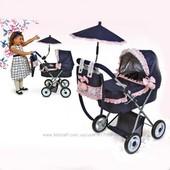Классик Романтик 85014 кукольная коляска с зонтиком Classic Romantic