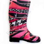 Жіночі гумові чоботи Рожеві абстракції.