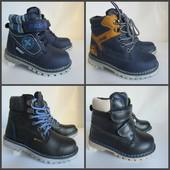 Зимние ботинки внутри нат. шерсть 60%, есть верх кожа 27-32 р