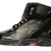 Мужские ботинки зимние на меху стильные ПЗ-30чн