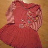 Очень красивое яркое платьице на девочку р. 80-86,92 в хорошем состоянии