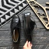 Лаковые кожаные туфли оксфорды р-р 42