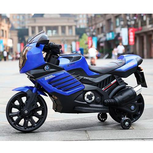 Мотоцикл bambi m 3578el-4, синий, белый, красный, зеленый фото №1