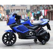 Мотоцикл Bambi M 3578EL-4, синий, белый, красный, зеленый