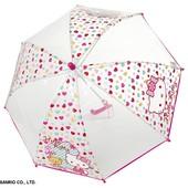 Прозрачный зонтик с Hello Kitty