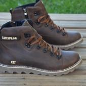 Ботинки мужские кожаные Caterpillar Rider Nubuck Brown