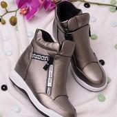 Стильные женские демисезонные ботинки-сникерсы