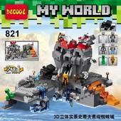 Конструктор Decool my world 821 майнкрафт 600 деталей аналог lego minecraft Остров Черепа коробке 47