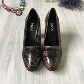 Фирменные кожаные туфли MAX, размер 39