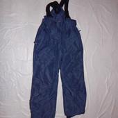 р. 128-134, термоштаны, полукомбинезон Quechua, Франция зимние лыжные штаны
