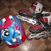 Размер 26-30 Ролики Amigo + шлем