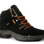 41 р Мужские демисезонные ботинки - кроссовки маломерки (8585ч)