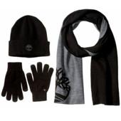 Набор подарочный: Шапка, Шарф и Перчатки Timberland. Цвет 001 черный.