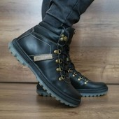 Ботинки PAV, натур. кожа на меху, р 40-45, код gavk-10486