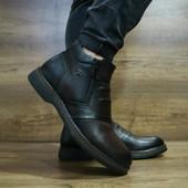Ботинки Cevivo, натур. кожа на меху, р 40-45, код gavk-10465