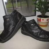 Зимние кожаные ботинки Rieker 40 р