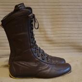 Спортивные кожаные коричневые полусапожки на низкой подошве Nike 38 р
