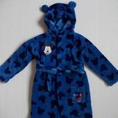 Халат махровый синий George на девочку 1-1,5 года рост 81-86 см