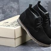 Ботинки зимние Vankristi black, замш