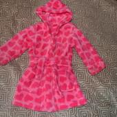 флисовый халат девочке на 12-18 мес Mothercare Англия сост нового!