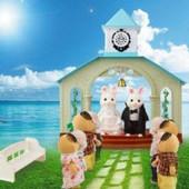 """Животные флоксовые Happy family """"Свадебная церемония"""",""""Фургончик"""" и """"Домик"""""""