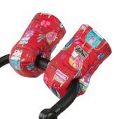 Муфта на овчине и синтепоне, рукавицы для рук на коляску и санки
