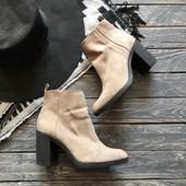 Крутые ботинки H&M на широком каблуке рр 38