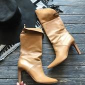 Кожаные сапоги Karen Millen рр 38