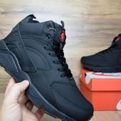 Кроссовки зимние Nike Huarache black 46р