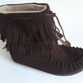 сапоги ботинки JOI зима натур замша р 38