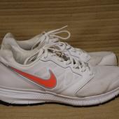 Легкие фирменные комбинированные белые кроссовки Nike  Downshifter 6.