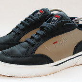 Кожаные кеды кроссовки Fila. Стелька 25 см