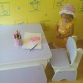 Бесплатная доставка!!! Столик и стульчики для двоих малышей с регулировкой высоты. Николаев