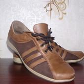 Кожаные мужские кроссовки 42р,28см