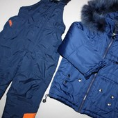 Зимняя куртка+полукомбенизон+шапка Chicco 3-4 года