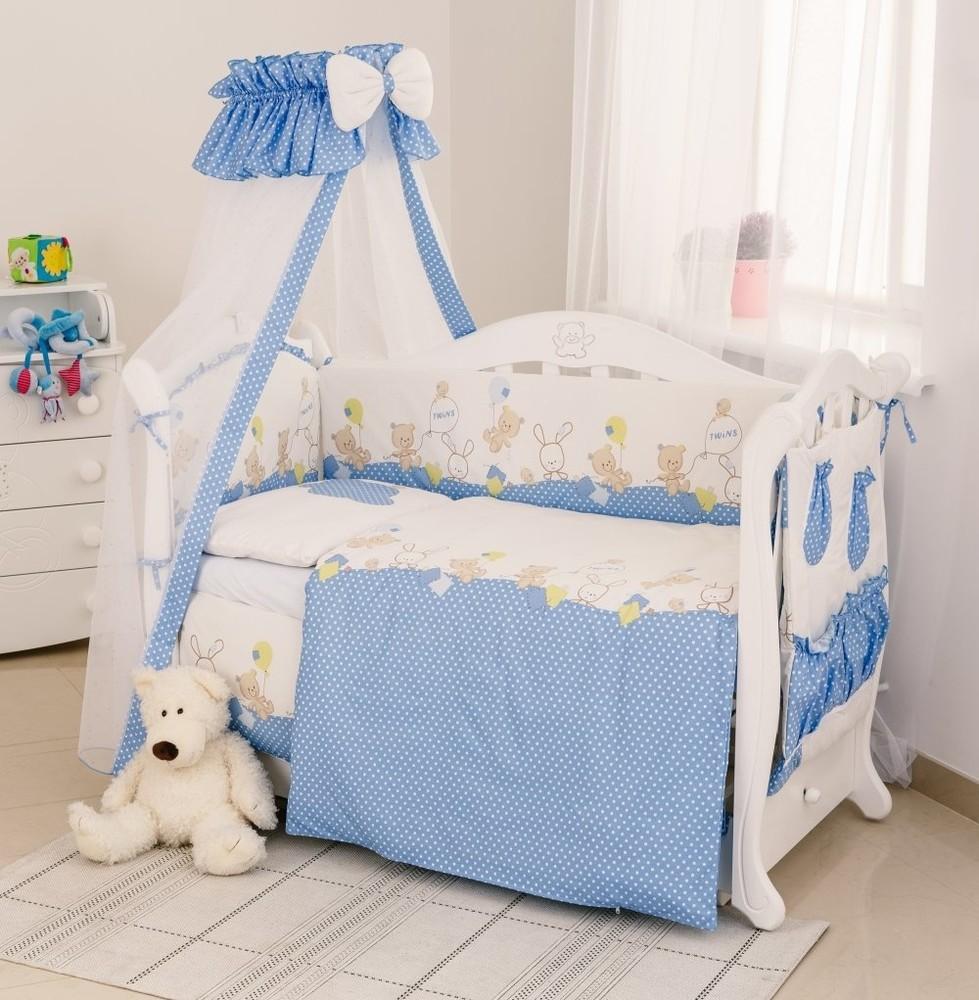 Детский постельный набор в кроватку Twins Comfort , 8 предметов. Разные цвета. фото №1
